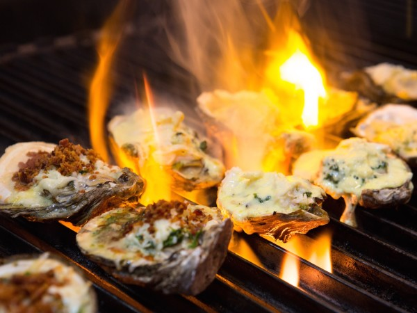 Rouxpour chargrilled oysters