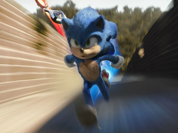 Sonic (Ben Schwartz) in Sonic the Hedgehog