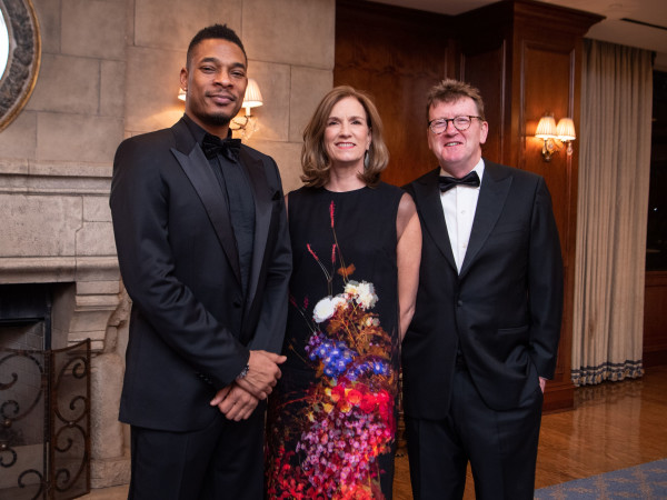 Inprint Poets & Writers Gala 2020: Terrance Hayes, Inprint Ball Chairs Anne Whitlock and Michael Skelly