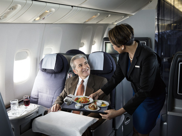 United Airlines flight attendant stewardess cabin customer