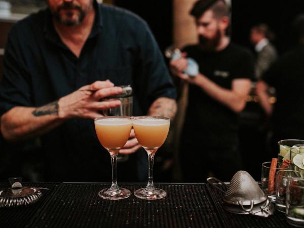 Garage bar Austin bartenders