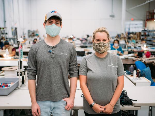Jon hard designs covid-19 fabric face masks factory