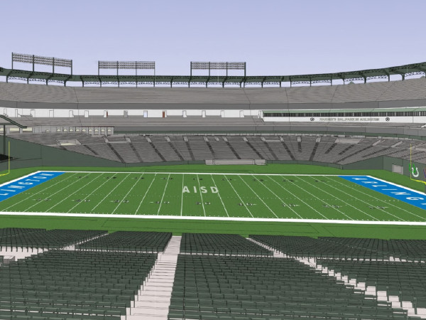 Arlington ISD football field Globe Life Park rendering