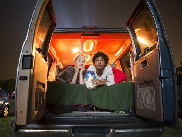 drive in theater drive-in car van sawyer yards