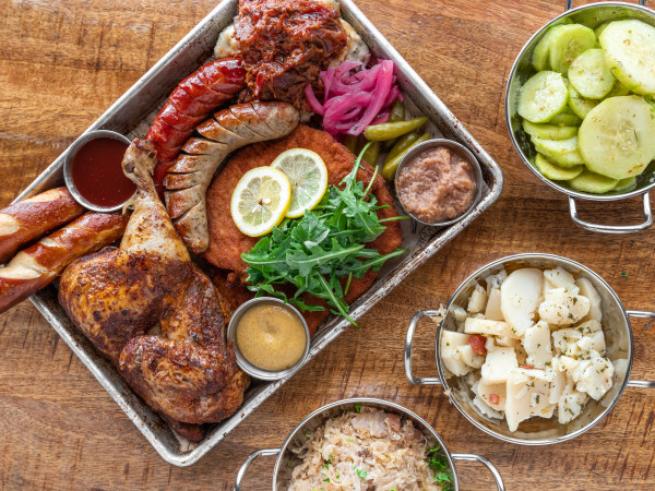 King's Biergarten Pearland Taste of Germany platter
