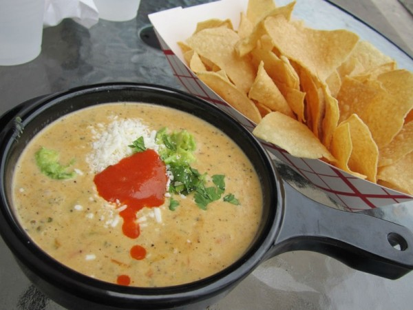 Torchy's Tacos queso and chips