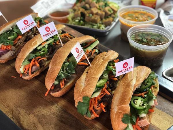 Roostar Vietnamese Grill sandwiches banh mi