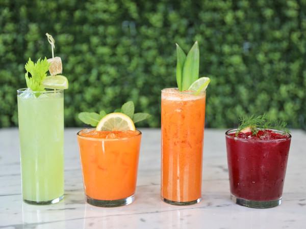Kerbey Lane Cafe, juices, drinks