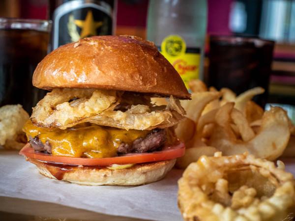 Luck's Tokyo BBQ burger