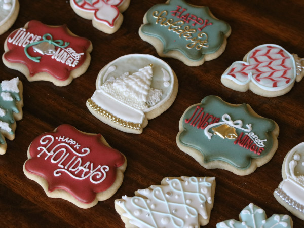 Bearded Baker Christmas cookies