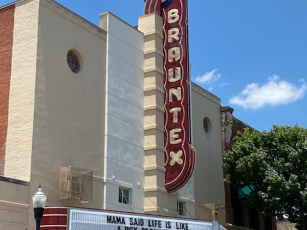 Brauntex Theater marquee