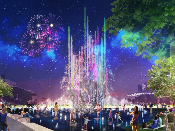 Rendering of Nancy Best Fountain