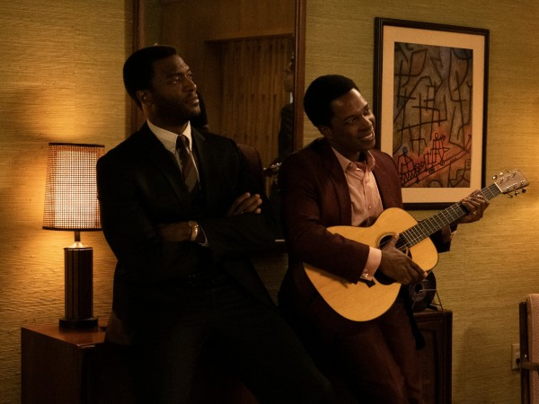 Aldis Hodge and Leslie Odom Jr. in One Night in Miami...