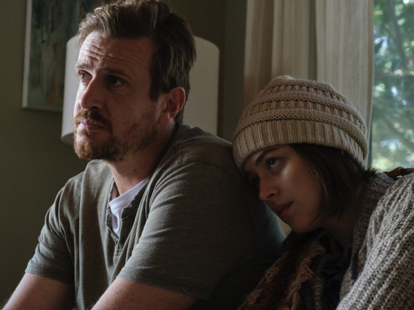 Jason Segel and Dakota Johnson in Our Friend