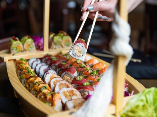 Blue Sushi Sake Grill sushi boat