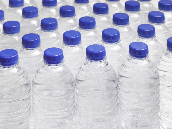 bottled water water bottles no label