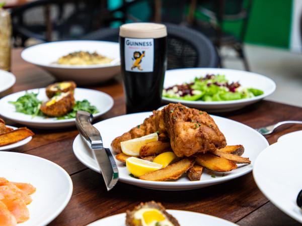 Foxy's Proper Pub menu spread