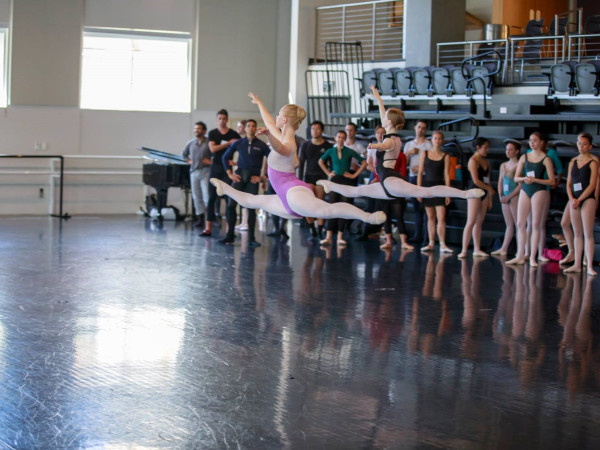 Texas Ballet Theater studio rehearsal