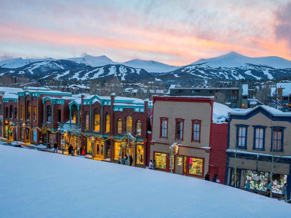 Breckenridge Colorado snow town