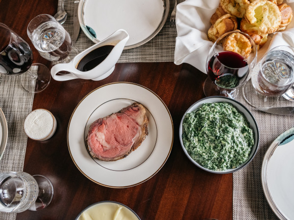 Bludorn prime rib Sunday supper