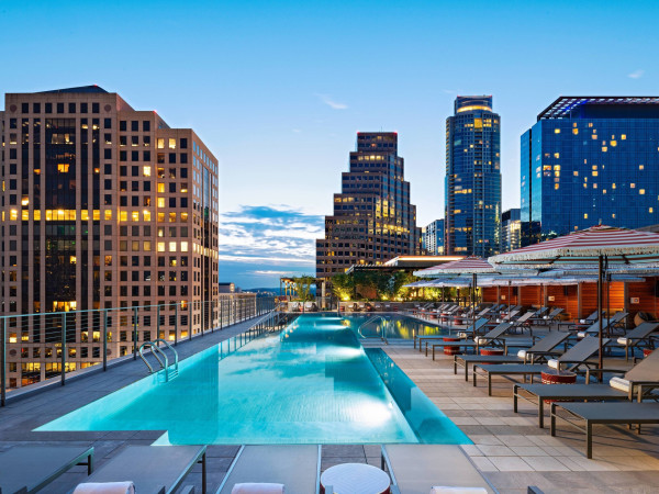 Austin Marriott Downtown pool terrace