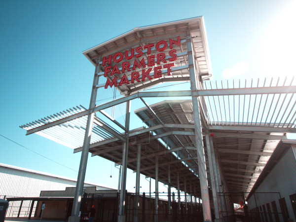 Houston Farmers Market entrance sign