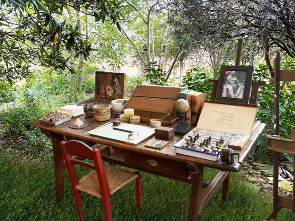Frida Kahlo's desk at Frida Kahlo Oasis exhibit