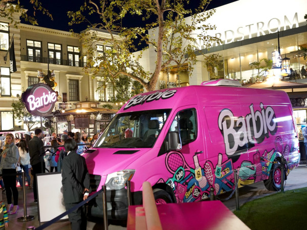 Barbie Throwback tour truck