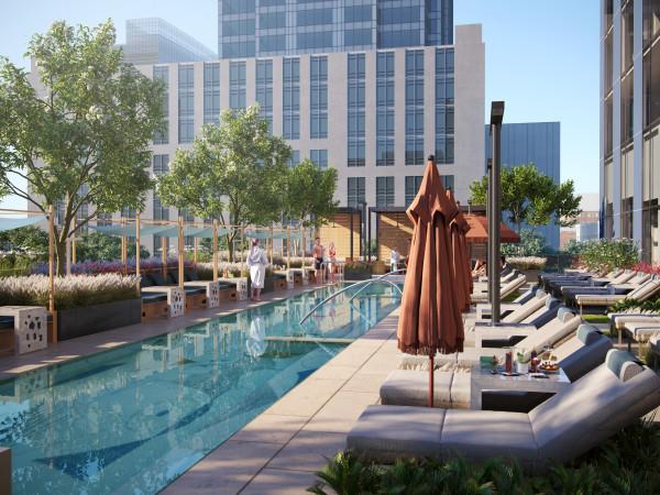 Thompson Austin hotel pool deck