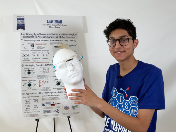 Alay Shah, Regeneron talent search winner
