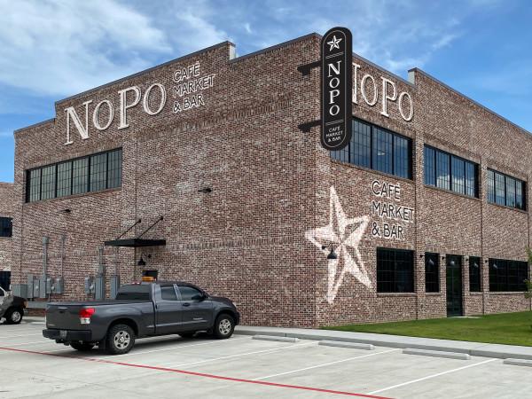 NoPo Cafe Market Bar signage rendering