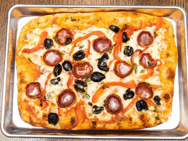 Fegen's restaurant Gaitano's Cosenza square