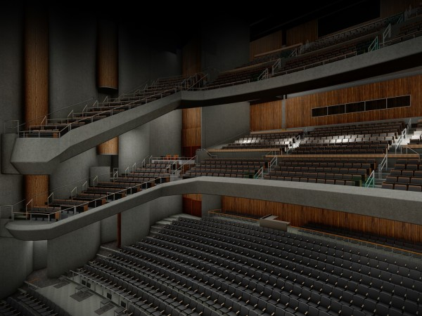 Bass Concert Hall reno rendering