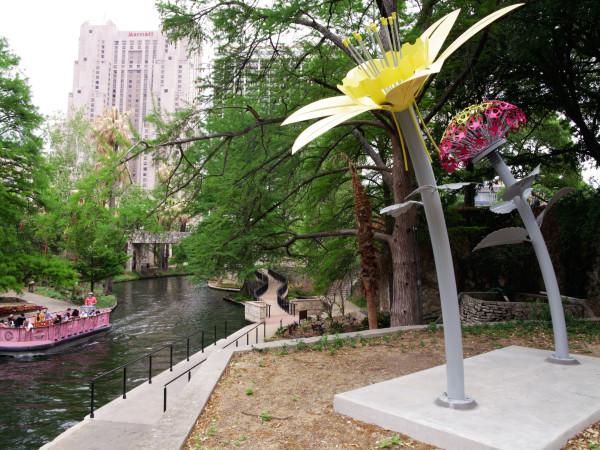 Blooms art installation San Antonio