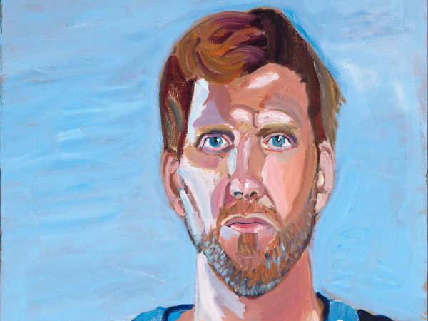 Dirk Nowitzki portrait by George W. Bush