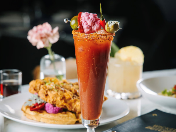 Wicked Butcher Mother's Day brunch, bloody mary