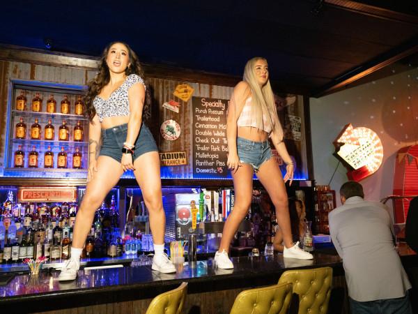 Fat Boots dancing bartenders