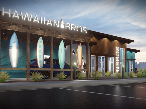 Hawaiian Bros. rendering