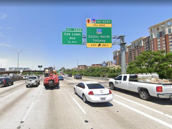 Tollway exit ramp