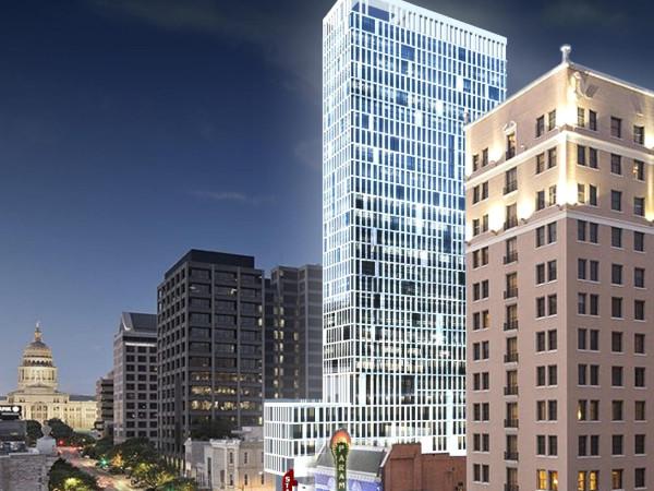 Hyatt Centric Austin hotel rendering