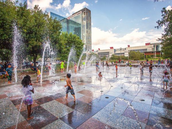 Discovery Green Gateway Fountain