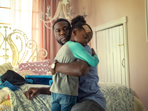 Kevin Hart and Melody Hurd in Fatherhood