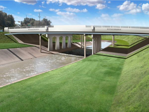 Buffalo Speedway bridge