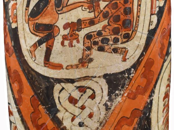Cylinder Vase with Animal Figures