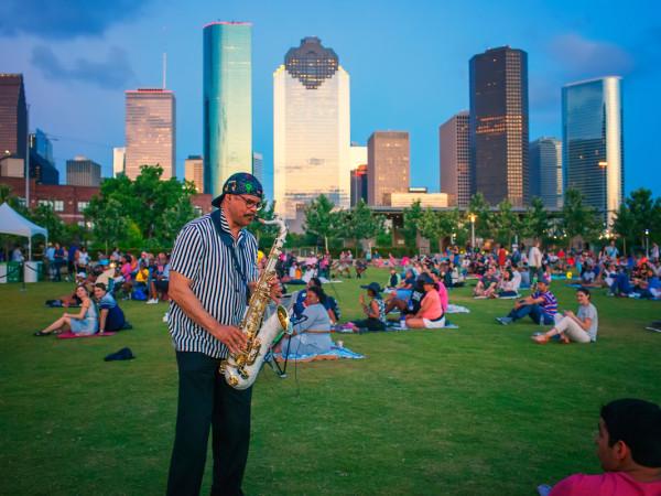 Jazzy Sundays in the Park Houston music jazz saxophone