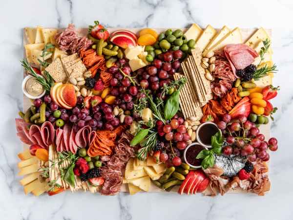 Graze cheese charcuterie fruit board