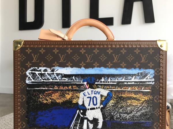 DTLAcustom Tara Martin Elton John's Louis Vuitton case