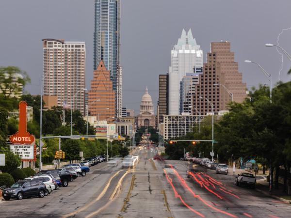 Austin skyline South Congress