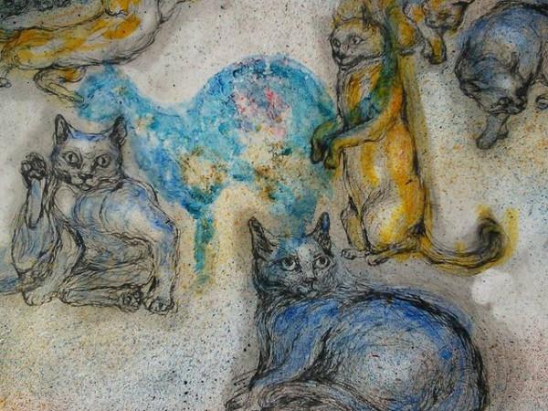 Floating Felines by Yoko Misu