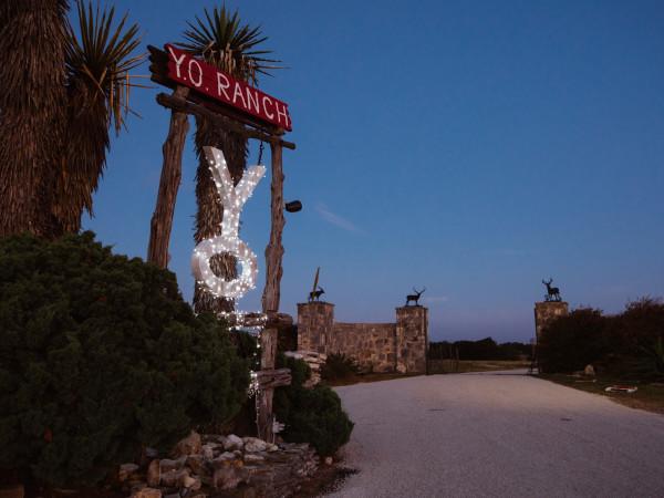 Y.O. Ranch sign